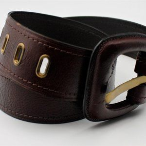 """Fossil Brown Gold Hardware Leather Size S/33"""" Belt"""